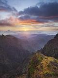 Sunrise at Miradouro Ninho Da Manta, Arieiro, Madeira, Portugal Photographic Print by Rainer Mirau
