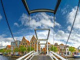 The Netherlands, Haarlem, Canal, Bridge, Drawbridge Reproduction photographique par Ingo Boelter