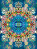 A Mandala Ornament from Flower Photographs, Conceptual Layer Work Stampa fotografica di Alaya Gadeh