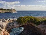Spain, Majorca, East Coast, Lighthouse of Portocolom, Punta De S'Homonet Impressão fotográfica por Rainer Mirau