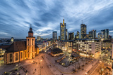 Germany, Hesse, Frankfurt on the Main, Skyline with Hauptwache and St. Catherine's Church Reproduction photographique par Bernd Wittelsbach
