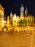 Germany, Saxony-Anhalt, Castle Naumburg, Night Photography, Cathedral Saint Peter and Paul Fotografie-Druck von Andreas Vitting