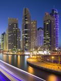 Skyscrapers, Dubai Marina, Dubai, United Arab Emirates Photographic Print by Rainer Mirau