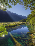 Mirror Lake, Fiordland National Park, Southland, South Island, New Zealand Photographic Print by Rainer Mirau