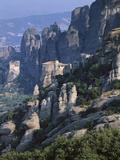 Griechenland, Thessalien, Meteora-KlvSter, Kloster Roussanou, Aghios Nikolaos , Glaube, Religion Fotografisk tryk af  Thonig