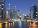 Skyscrapers, Dubai Marina, Dubai, United Arab Emirates Photographic Print by Rainer Mirau