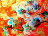 A Colorful Floral Montage Reproduction photographique par Alaya Gadeh