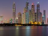 Skyscrapers Near Dubai Marina, the Palm Jumeirah, Dubai, United Arab Emirates Photographic Print by Rainer Mirau