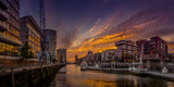 Germany, Hamburg, Hafencity, 'Magellan-Terrassen', 'Sandtorkai', 'Sandtorhafen' (Harbour Reproduction photographique par Ingo Boelter