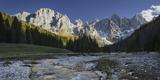 Monte Mulaz, Cima Del Focobon, Cima Dei Bureloni, Brook Travignolo, Val Venegia Photographic Print by Rainer Mirau