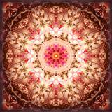 A Mandala Ornament from Flowers, Photography, Layer Artwork Fotografisk trykk av Alaya Gadeh