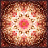 A Mandala Ornament from Flowers, Photography, Layer Artwork Lámina fotográfica por Alaya Gadeh
