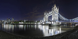 Tower Bridge over the Thames by Night, London, England, Great Britain Photographic Print by Axel Schmies
