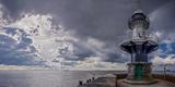 Germany, Schleswig - Holstein, BrunsbŸttel (Town), Lock, Lighthouse, Mole 1 (Jetty) Reproduction photographique par Ingo Boelter