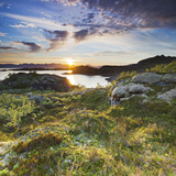 Norway, Nordland, Lofoten, Falkfjorden, the Sun Photographic Print by Rainer Mirau