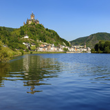 Germany, Rhineland-Palatinate, Cochem, the Moselle, Imperial Castle Fotografie-Druck von Andreas Vitting