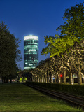 Frankfurt on the Main, Hesse, Germany, View at the Westhafen Tower Reproduction photographique par Bernd Wittelsbach