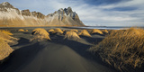 Black Sand, Kambhorn (Mountain), Stokksnes (Headland), Hornsvik (Lake), East Iceland, Iceland Photographic Print by Rainer Mirau