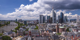 Germany, Hessen, Frankfurt on the Main, Panoramic View from the Cathedral on the Main, Ršmerberg Fotografisk trykk av Udo Siebig