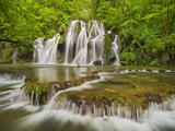 Cascades of the Tufs, Arbois, Law, France Photographic Print by Rainer Mirau
