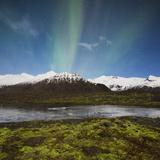 Aurora Borealis, Hafrafell, Skaftafell, South Iceland, Iceland Photographic Print by Rainer Mirau
