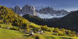 Villnšss Valley, Santa Maddalena, Geisler Group, Gruppo Delle Odle, South Tyrol Photographic Print by Rainer Mirau