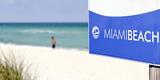 Beach Area, Near 83 Street, Miami South Beach, Atlantic Ocean, Florida, Usa Photographic Print by Axel Schmies