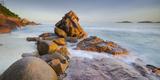 Red Granite at Anse Gaulettes, La Digue Island, the Seychelles Fotografisk trykk av Rainer Mirau