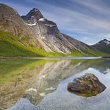 Norway, Nordland, Tysfjord, Stefjordbotn, Stetind, Stefjord Fotografie-Druck von Rainer Mirau