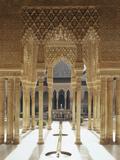 Spain, Andalusia, Granada, Alhambra, Lion's Court Fotografisk trykk av  Thonig