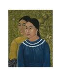 Dos Mujeres (Salvadora y Herminia), 1928 Art by Frida Kahlo