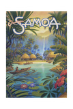 Greetings from Samoa Posters av Kerne Erickson
