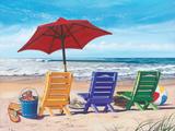 Bunte Strandstühle Poster von Scott Westmoreland