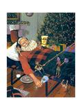 Snoozing Santa Stampe di Scott Westmoreland