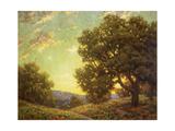 Sunset Landscape Print by Granville Redmond