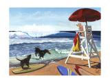 Guard Dogs Lámina por Scott Westmoreland