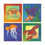 Sea Life Panel I Poster af Scott Westmoreland