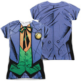 Juniors: Batman- Joker Bolo Tie Costume Tee (Front/Back) Womens Sublimated