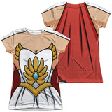 Juniors: Masters Of The Universe: She Ra- Costume Tee (Front/Back) Womens Sublimated