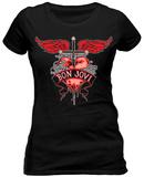 Women's: Bon Jovi- Heart & Dagger (Slim Fit) T-paita