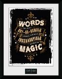 Harry Potter - Words Reproduction encadrée pour collectionneurs
