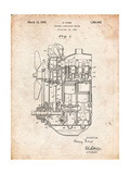 Ford Internal Combustion Engine Patent Affiches par Cole Borders