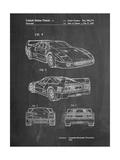 Ferrari 1990 F40 Patent Affiches par Cole Borders