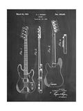 Fender Precision Bass Guitar Patent Posters par Cole Borders