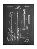 Fender Precision Bass Guitar Patent Poster by Cole Borders