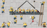 Minions Peel and Stick Wall Mural Carta da parati decorativa