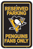 NHL Pittsburgh Penguins Parking Sign Wall Sign