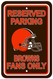 NFL Cleveland Browns Reserved Parking Sign Wall Sign