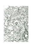 Ragnarok Issue No. 8 - Pencils for the Standard Cover Prints by Walter Simonson