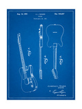 Fender Broadcaster Electric Guitar Patent Posters par Cole Borders